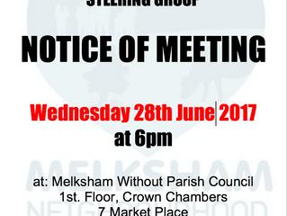 Steering group meeting June 2017