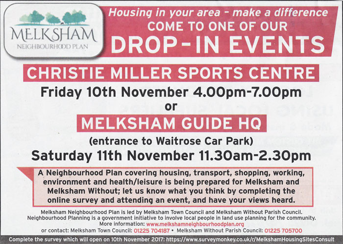 Come along to one of our drop-in events and have your say