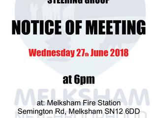 June 2018 Steering Group meeting - new venue!
