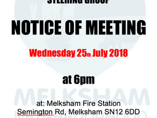 July meeting of the Steering Group