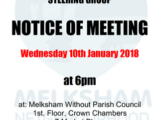 Steering group meeting - 10th January 2018