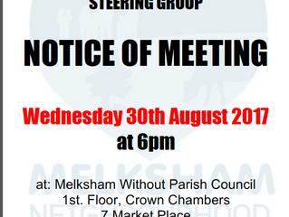 Steering group meeting 30 August 2017