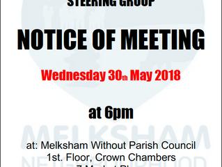 May 2018 Steering Group meeting