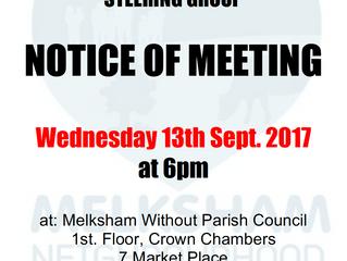 Steering Group Meeting 13 September 2017