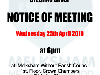 April 2018 Meeting of the Steering Group