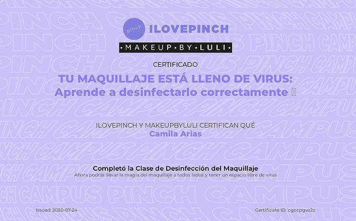 Desinfección del Maquillaje