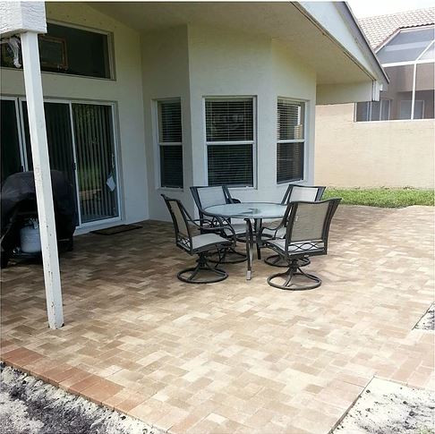 After Pavers Installation
