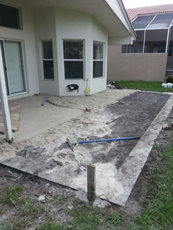 Pavers Patio Deck Before