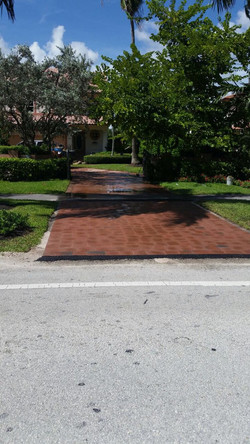 After driveway paver