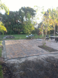 Patio pavers deck after
