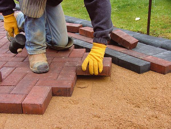Brick paver installation service