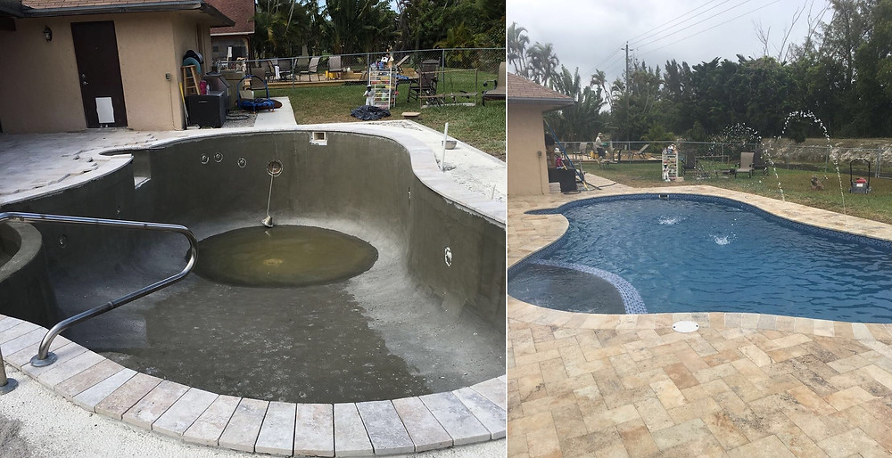 Pool Remodeling Before and After