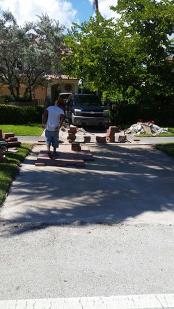 Before driveway paver