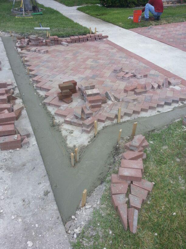 Installing pavers driveway