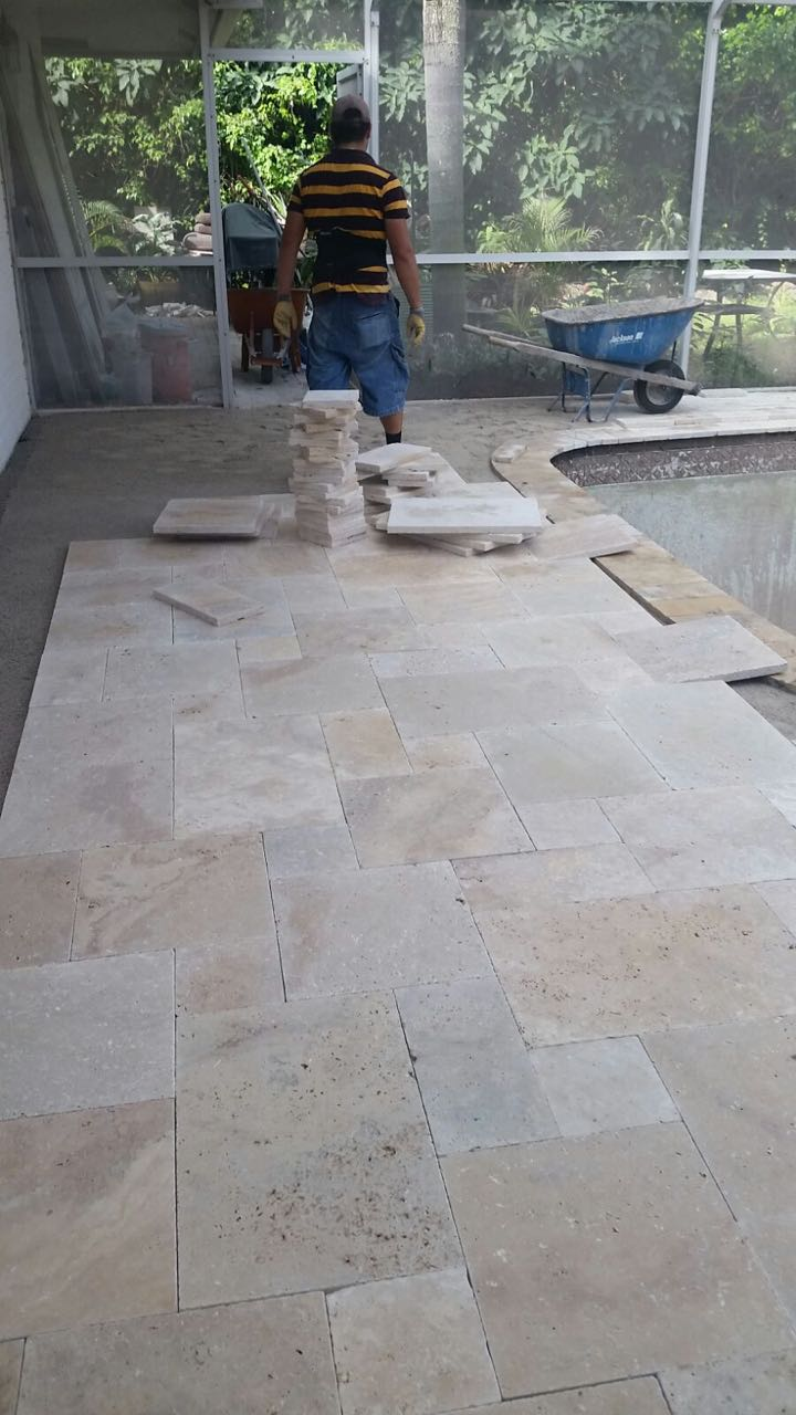 Installing Travertine Patio