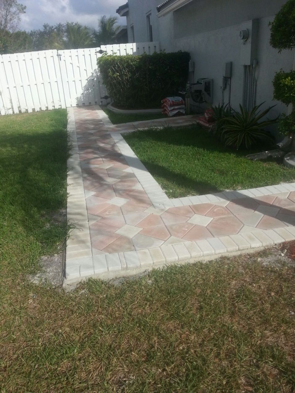 After walkway pavers