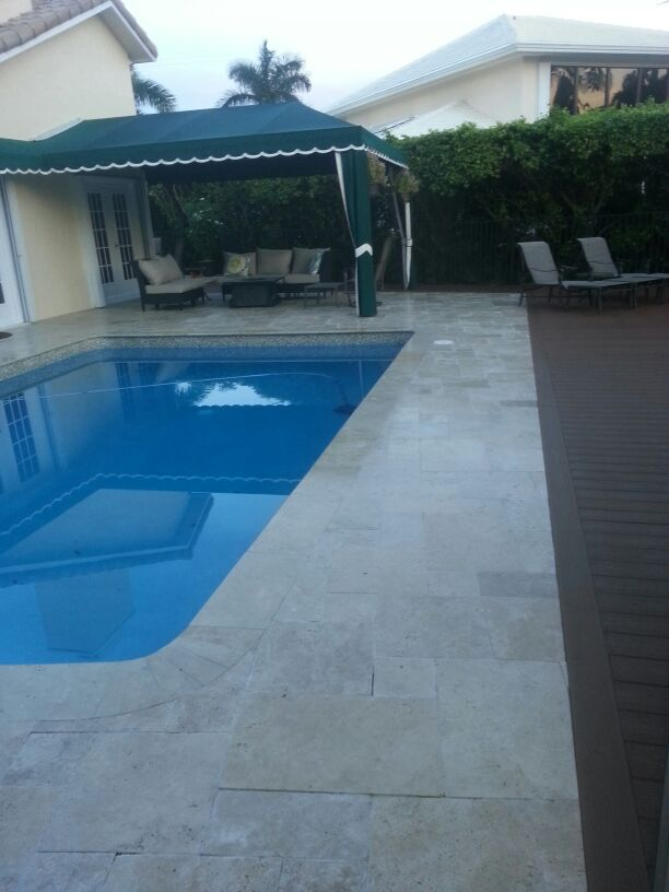 Travertine Pool Deck