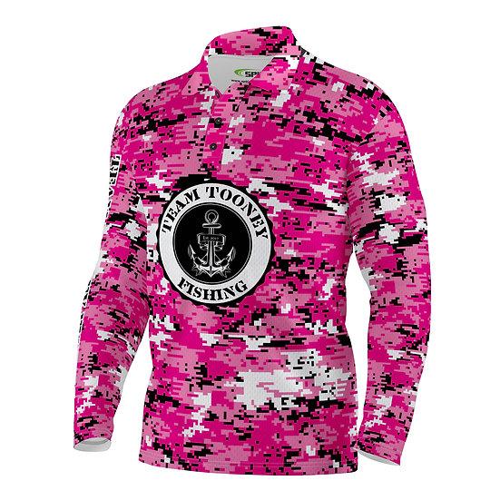 Pink Digicam Long Sleeve Shirt