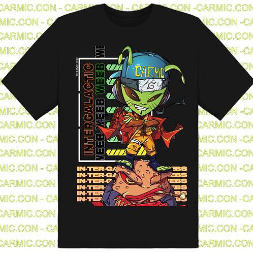 Intergalactic Weeb Shirt - Alien #Weeb Cosplay As Leaf Ninja