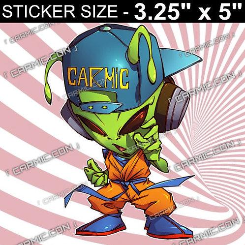 Animation Dragon Ball Z x Carmic The Alien As Goku Vinyl Sticker