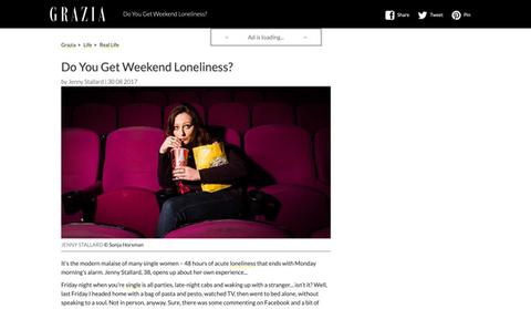 Weekend loneliness