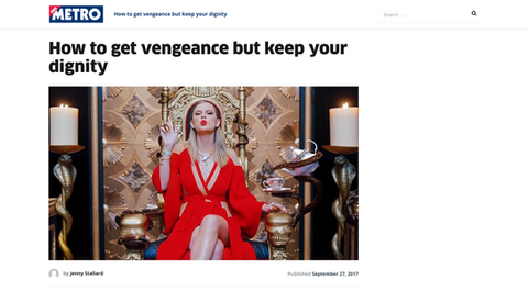 How to get vengeance but keep your diginity