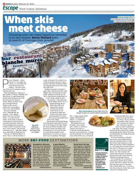 When skis meet cheese