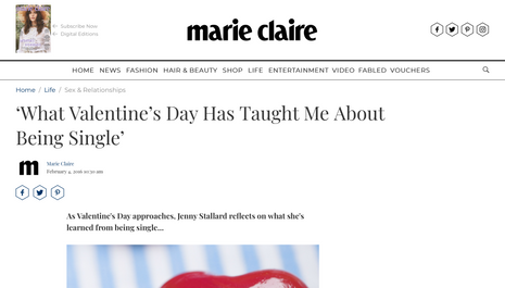 """""""What Valentine's Day has taught me about being single"""""""