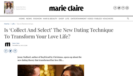 Is 'collect and select' a new dating technique?