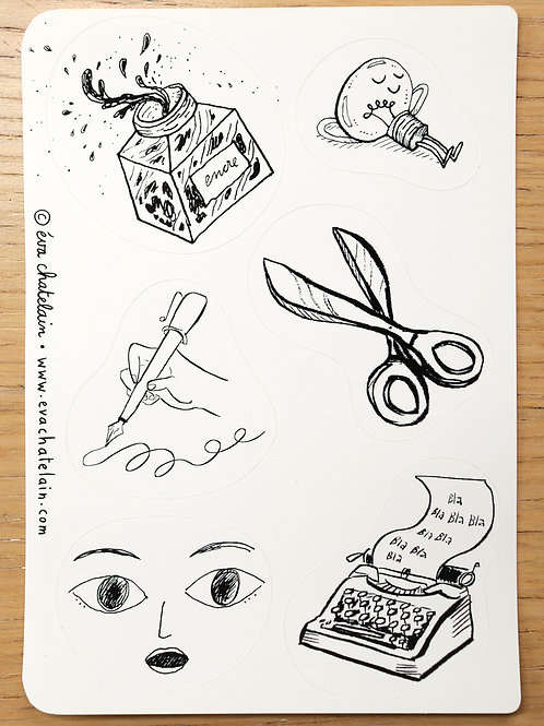 Planche de stickers (stickers sheet) A6