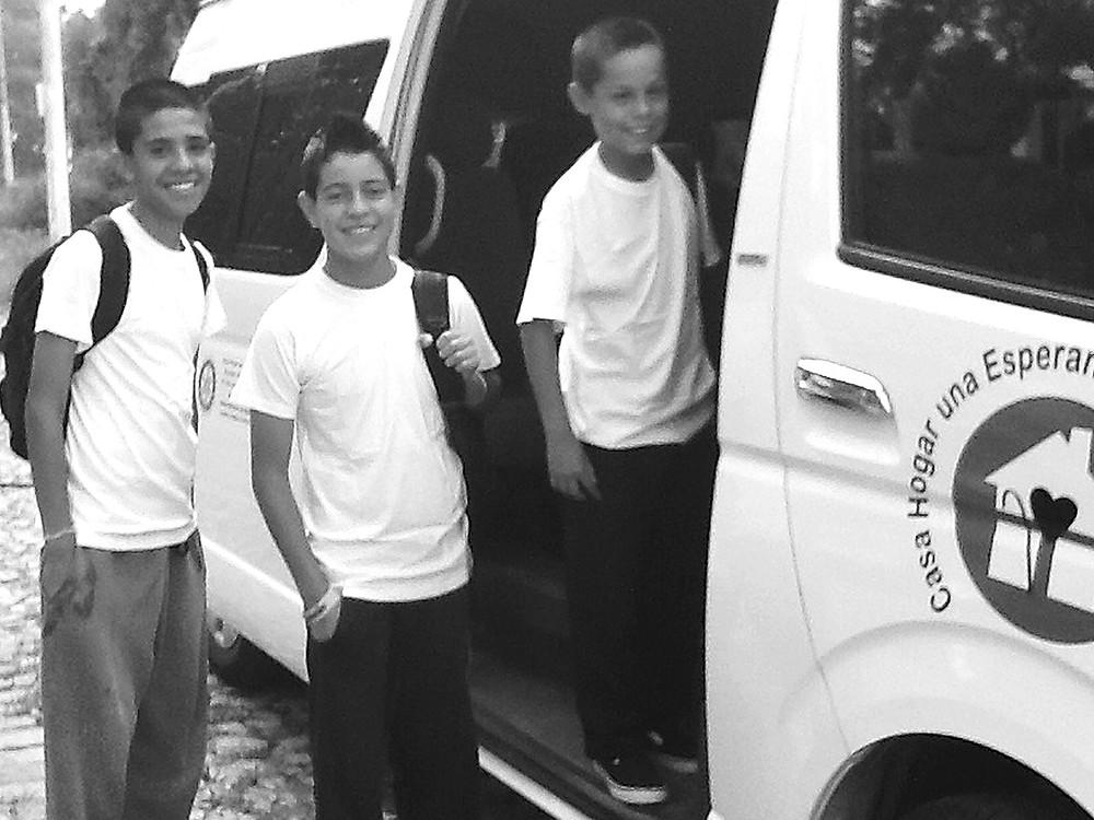 A few boys ready for school.