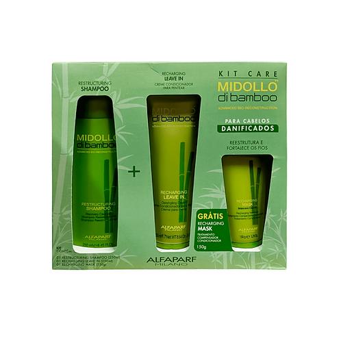 Kit Alfaparf Midollo Shampoo 250ml + Condicionador 250ml + Máscara 150g