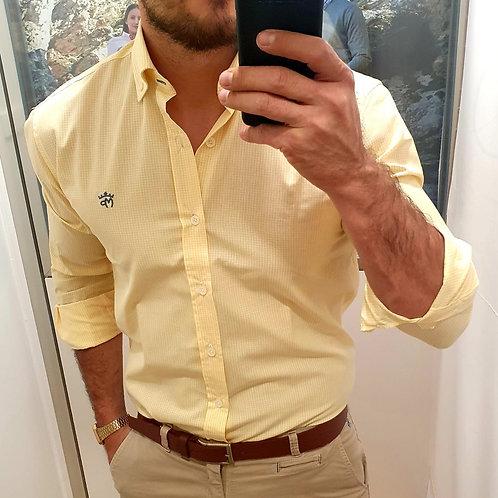 Camisa Vichy Amarilla Montepicaza