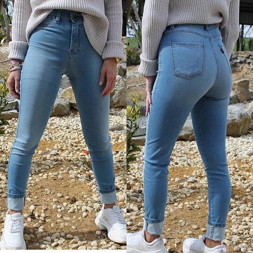 Pantalon jeans elastico