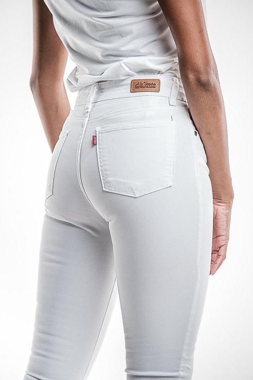 Pantalon Pitillo Blanco