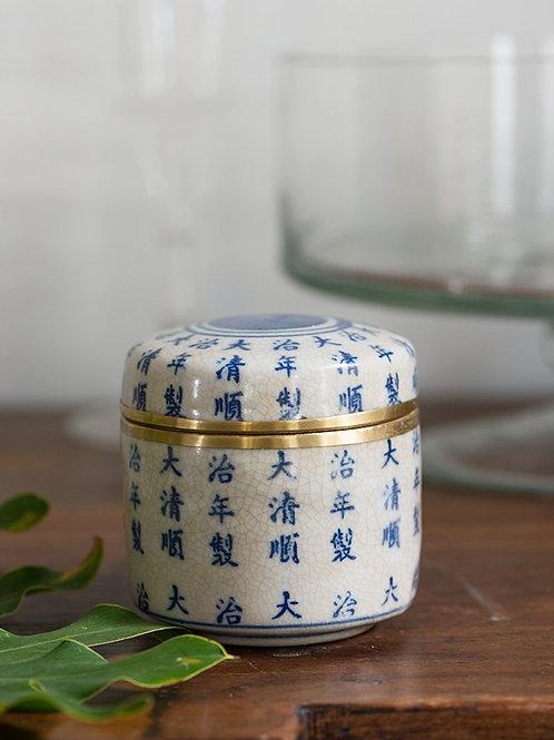 Pot en céramique bleu Benchamat