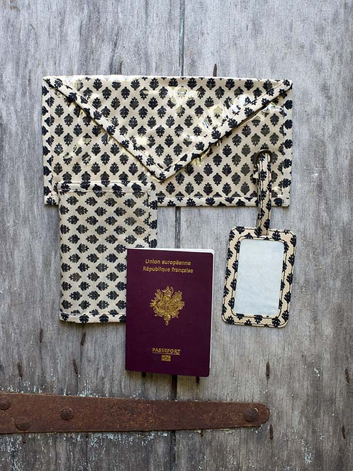Kit voyages noir et beige Kanpur