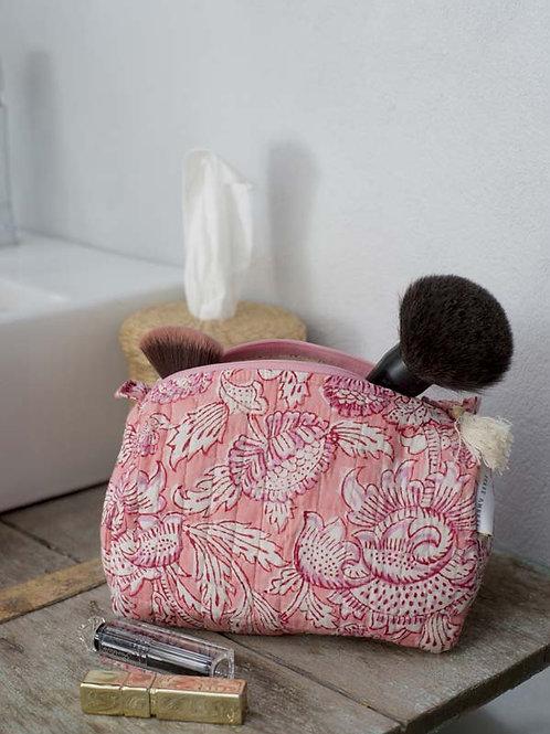 Trousse de toilette rose et blanche Bahni