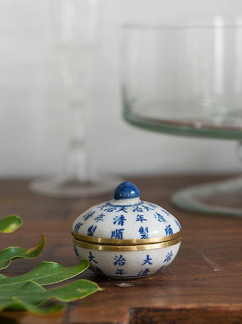 Pot en céramique bleu Anun