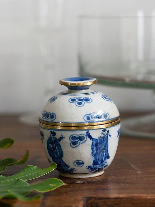 Pot en céramique bleu Kla