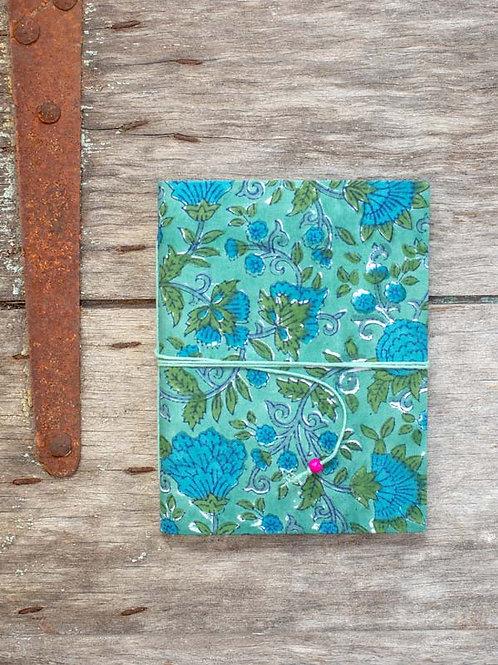 Carnet vert et bleu Bisma L