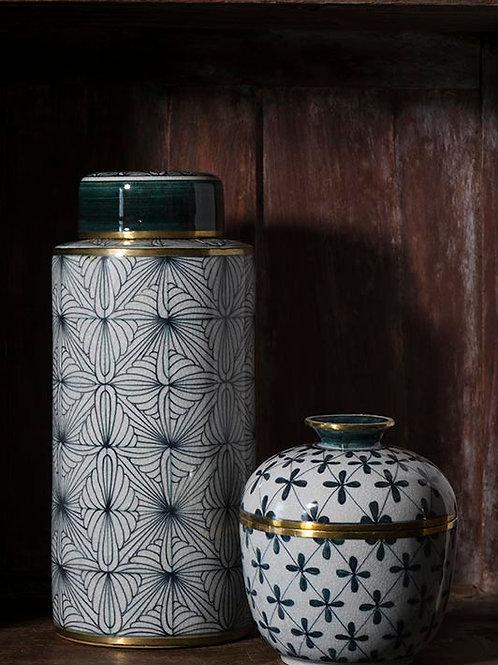 Pot en céramique motif ethnique Ampai
