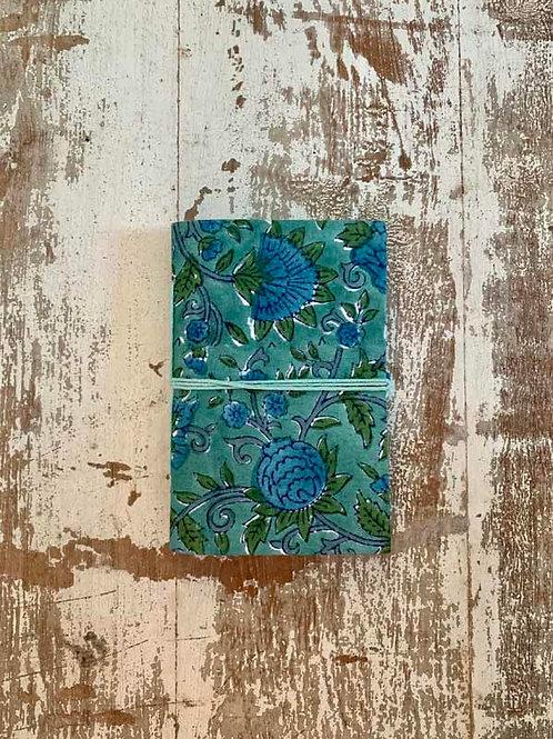 Carnet vert et bleu Bisma S