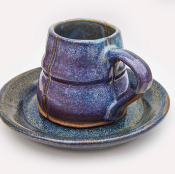 Slip Cast Mug and Saucer