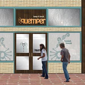Quemper Logo and Environmental Design
