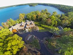 Wisconsin lake home - aerial photo