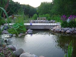 foot bridge over pond