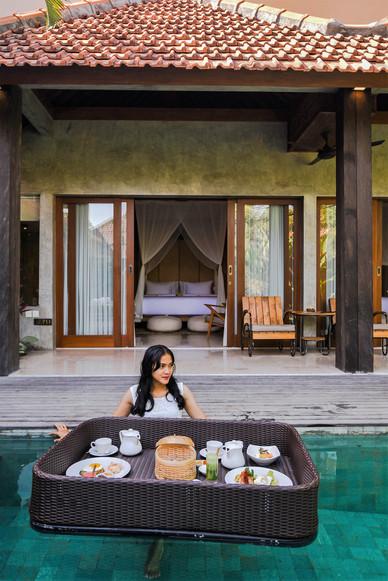 Delicious Pool Side Breakfast!