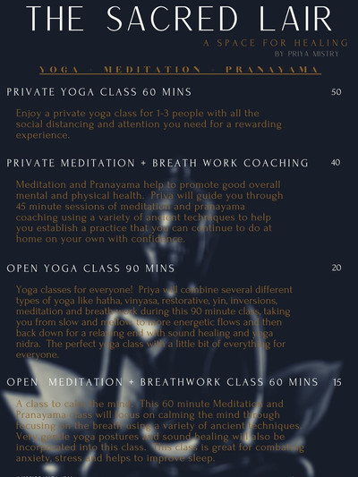YOGA + MEDITATION + PRANAYAMA