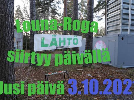 Louna-Rogan päivämäärä muuttui
